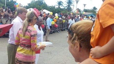 Koning Willem Alexander en koningin Maxima in Curacao