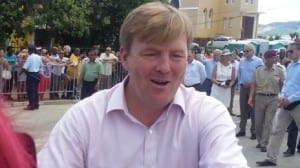 Koning Willem Alexander in Curacao