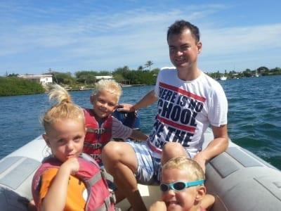 Spaanse Water motorboot huren Curacao
