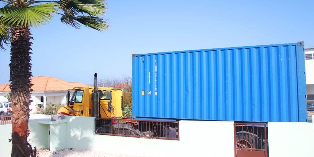 container inboedel verhuizen Curaçao