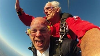 Skydive Curacao freefall parachute springen