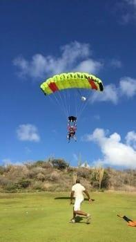 Skydive Curacao landingzone Santa Barbara Resort