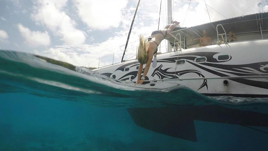 Catamaran curacao black white