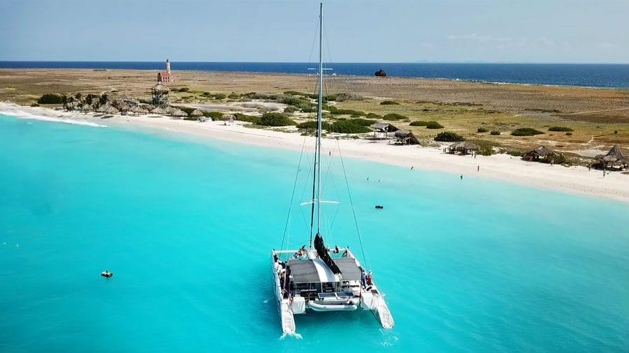 klein curacao catamaran black white
