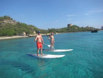 Paddle Boarding op Curaçao is fun!