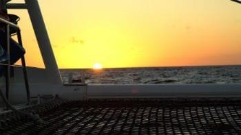 sunset zonsondergang Curaçao boottocht