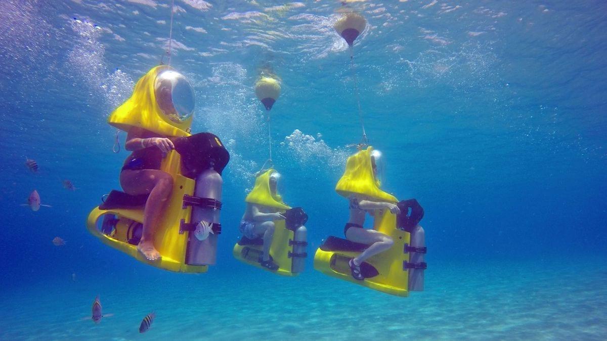 Aquafari Curacao Onderwaterscooter Duiken Zonder Cursus