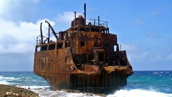 Klein Curaçao scheepswrak