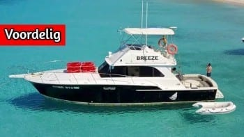 Klein Curaçao met Breeze motorboot