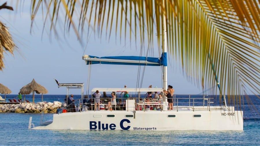 Blue C catamaran curacao blue bay