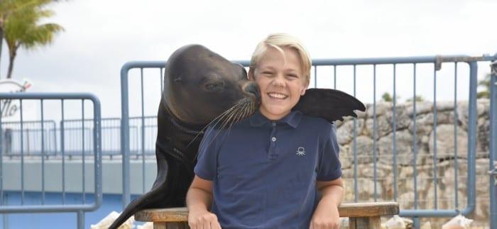 Dolle pret bij Sea Aquarium Curaçao