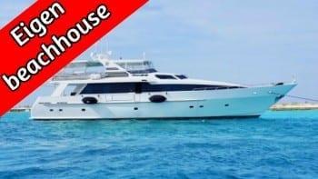 klein curacao luxe boottocht miss ann all-inclusive eigen beachhouse