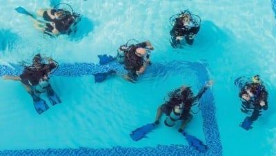 introductieduik op curacao in zwembad