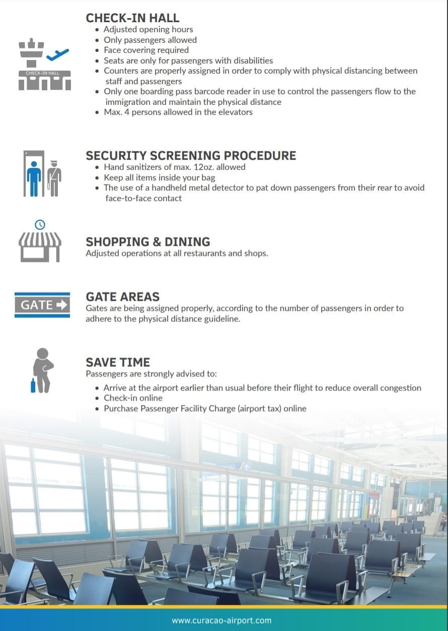 corona-maatregelen Hato Airport Curaçao pag.2