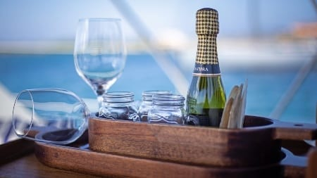 Maxie Sailing Curacao exterior view Galaxie cheers private charter curacao 450x253 1