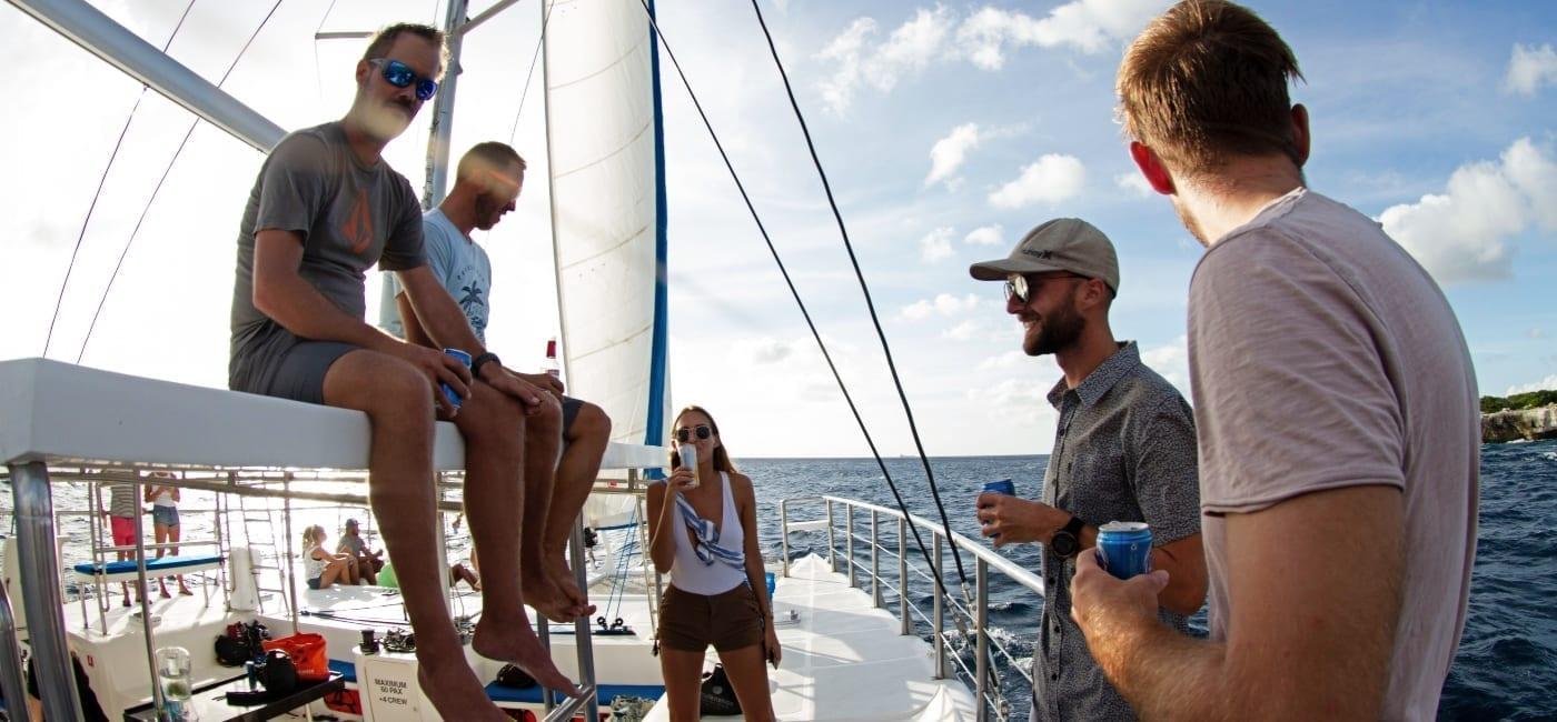 Curaçao Sunday Funday op de catamaran