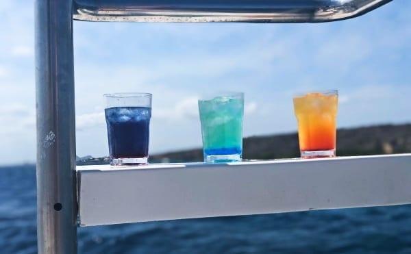 lekkere drankjes bij de Sunday Funday-trip van Blue C