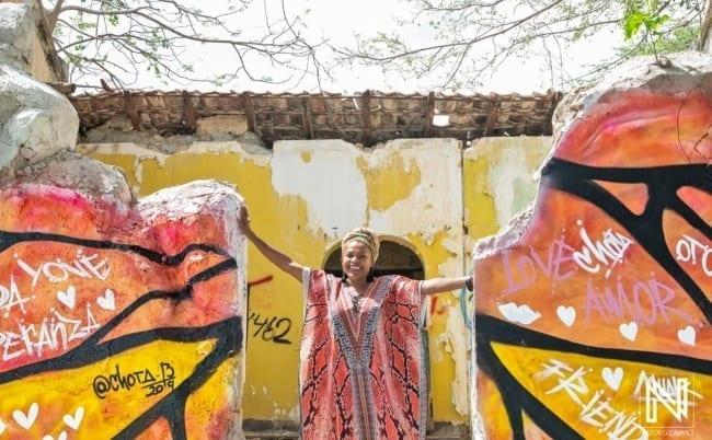 streetart Curacao stadswandeling Jacqueline